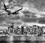 Poster en noir & blanc vue sur la ville de Sydney