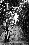 Poster paris Montmartre in black and white