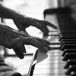 Poster pianiste in black and white