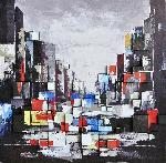 Ville 3d 100 x 100 cm - gallery