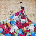 Femme robe 3d 100 x 100 cm - gallery