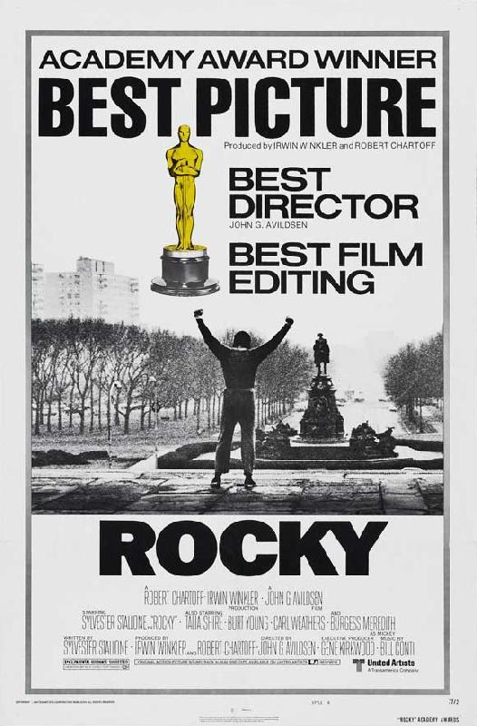 affiche noir blanc du film rocky acheter affiche noir blanc du film rocky 4608. Black Bedroom Furniture Sets. Home Design Ideas