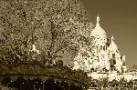 Photo sépia du Sacré Cœur Paris