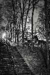 Affiche noir & blanc de Montmartre