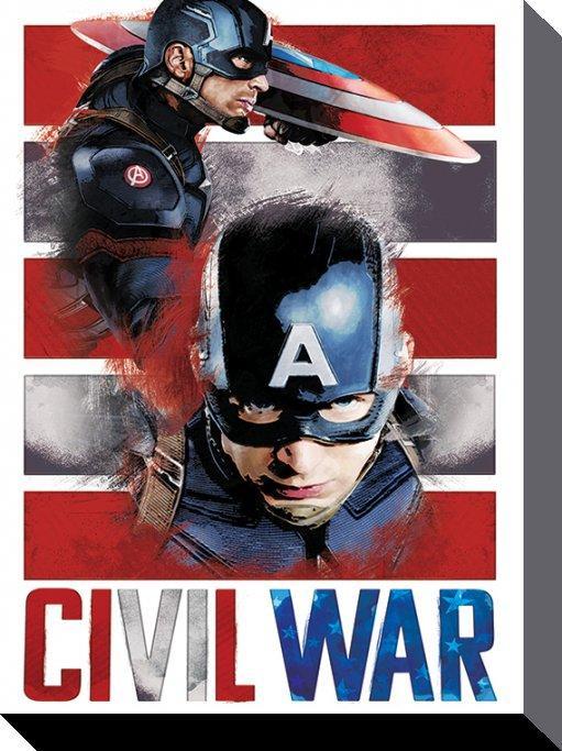 affiches posters toile imprim e du film captain america civil war. Black Bedroom Furniture Sets. Home Design Ideas