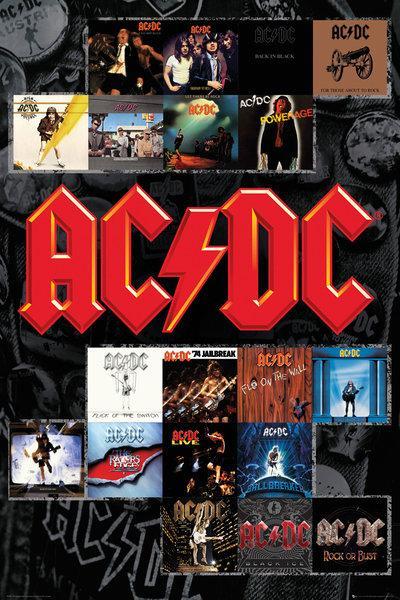 affiche des albums acdc acheter affiche des albums acdc 46440 affiches et. Black Bedroom Furniture Sets. Home Design Ideas