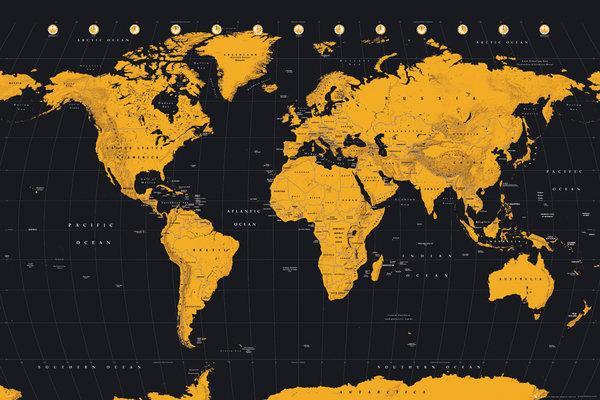 Affiche Carte du monde   acheter Affiche Carte du monde (46479