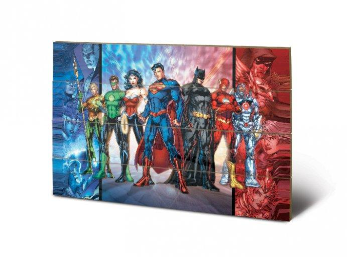 description visuwall impression sur bois dc comics ref 46609 mise l chelle. Black Bedroom Furniture Sets. Home Design Ideas