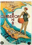Affiche publicitaire de Quiberon - Carnac