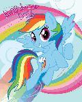 Affiche My Little Pony (Rainbow Dash)