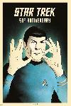 Poster Star Trek (Spock 5-0) 50th Anniversary