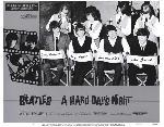 Affiche noir & blanc Quatre garçons dans le vent