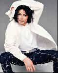 Poster photo Michael Jackson chemise blanche