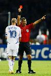 Photo Zinedine Zidane carton rouge