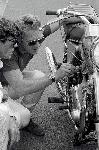 Poster photo noir et blanc Steve Mcqueen moto