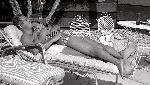 Photo noir et blanc Steve Mcqueen transat