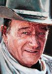 Photo couleur de John Wayne en cow-boy