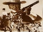 Photo montage western John Wayne