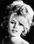 Portrait noir et blanc de Brigitte Bardot
