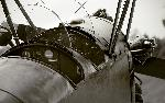Photo noir et blanc vieil avion