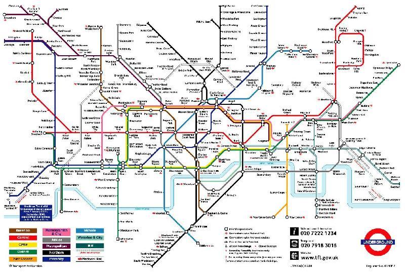 Affiche de la carte du métro de Londres   acheter Affiche de la