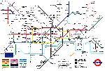 Affiche de la carte du métro de Londres