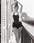 Poster photo noir et blanc de Sophie Marceau sexy