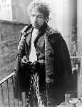 Photo portrait Bob Dylan noir et blanc