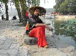 Passant au bord du Lac Kunming (Beijing)