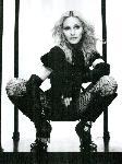 Poster photo noir et blanc de Madonna