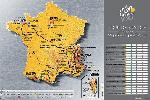 Affiche du Tour de France Carte parcours 2013