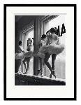 Affiche pré encadrée Time Life Ballerinas in window