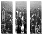 Toile Triptyque de Building à New York