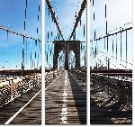 Reproduction sur toile triptyque d'une photo du pont de Brooklyn