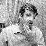 Poster photo de jean-Paul Belmondo en noir et blanc