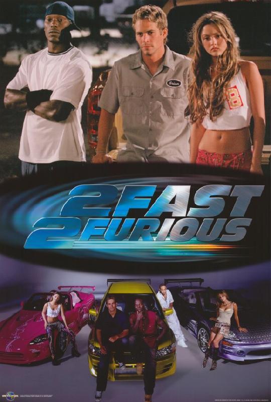 poster du film 2 fast 2 furious acheter poster du film 2 fast 2 furious 4917 affiches et. Black Bedroom Furniture Sets. Home Design Ideas