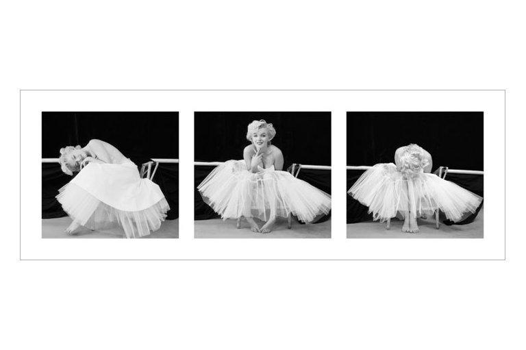 affiche noir blanc marilyn monroe ballerina triptych acheter affiche noir blanc marilyn. Black Bedroom Furniture Sets. Home Design Ideas