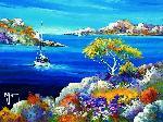 Peinture de Roger KEIFLIN Mer d'huile