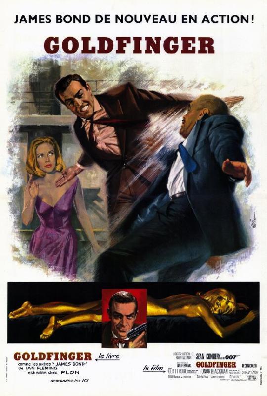 affiche du film james bond goldfinger acheter affiche du film james bond goldfinger 5028. Black Bedroom Furniture Sets. Home Design Ideas