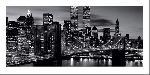 Affiche noir & blanc de Brooklyn Bridge
