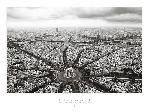 Poster photo de Paris l'Etoile vue du ciel