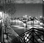 Toile imprimées du Pont des Arts 4 Paris