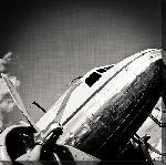 Toile imprimée d'un Avion chromé 1