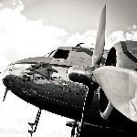 Impression sur toile d'un Avion chromé 3