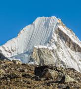 Affiche du Mont Lingtren Himalaya Népal