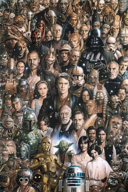 affiche des personnages de star wars acheter affiche des personnages de star wars 5262 affiches et posterscom