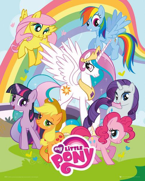 Affiches posters affiche du dessin anim my little pony - Pony dessin anime ...