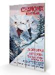 Impression sur bois Chamonix Mont Blanc