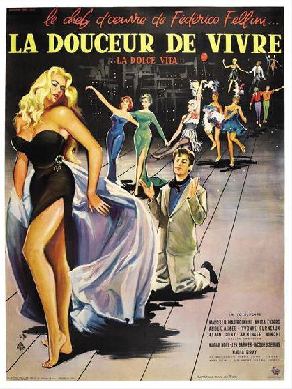 affiche du film la dolce vita acheter affiche du film la dolce vita 5320 affiches et. Black Bedroom Furniture Sets. Home Design Ideas