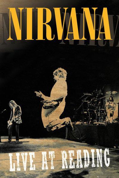 affiches posters affiche du groupe de rock nirvana reading. Black Bedroom Furniture Sets. Home Design Ideas